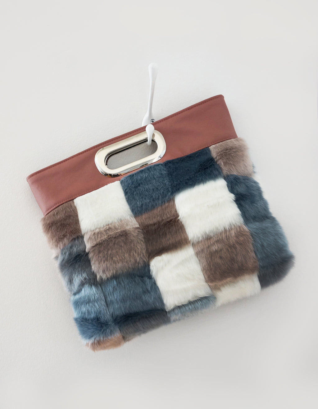 HARLEY - clutch, vegan fur, vegan leather