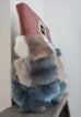 HARLEY - clutch, vegan fur, vegan leather - SIDE