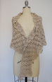 Shawl - Lace Crochet, Cotton/Cashmere (Beige,Linen)