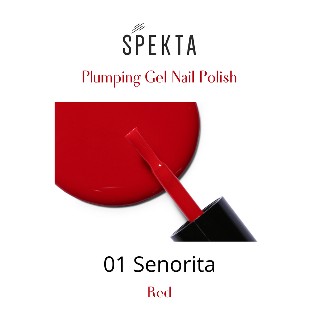 Spekta Gel Nail Polish- 01 Senorita (Red)