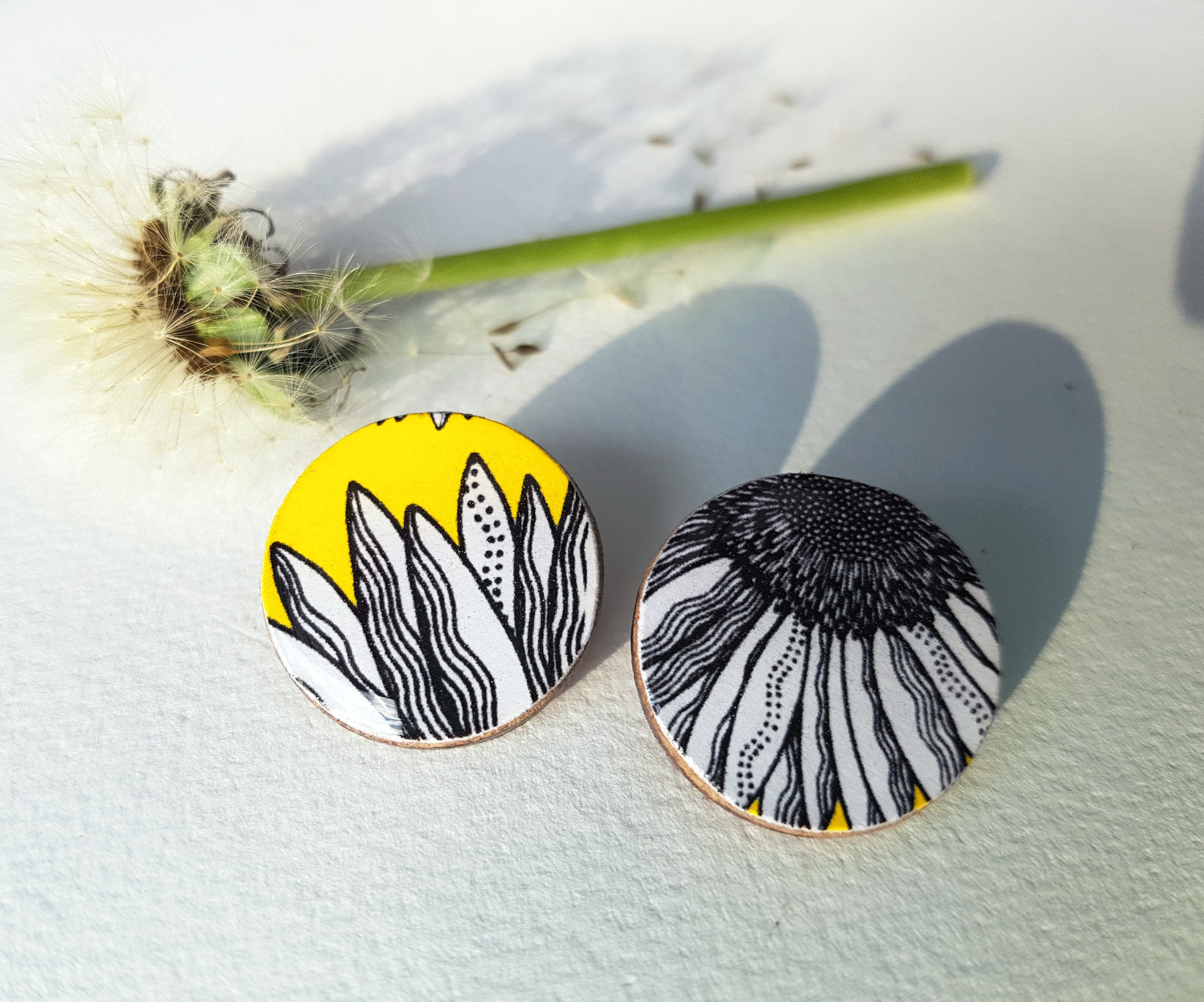Large Studs // 'Yellow Daisy'