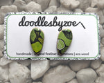 Pebble Studs // 'Greenery'