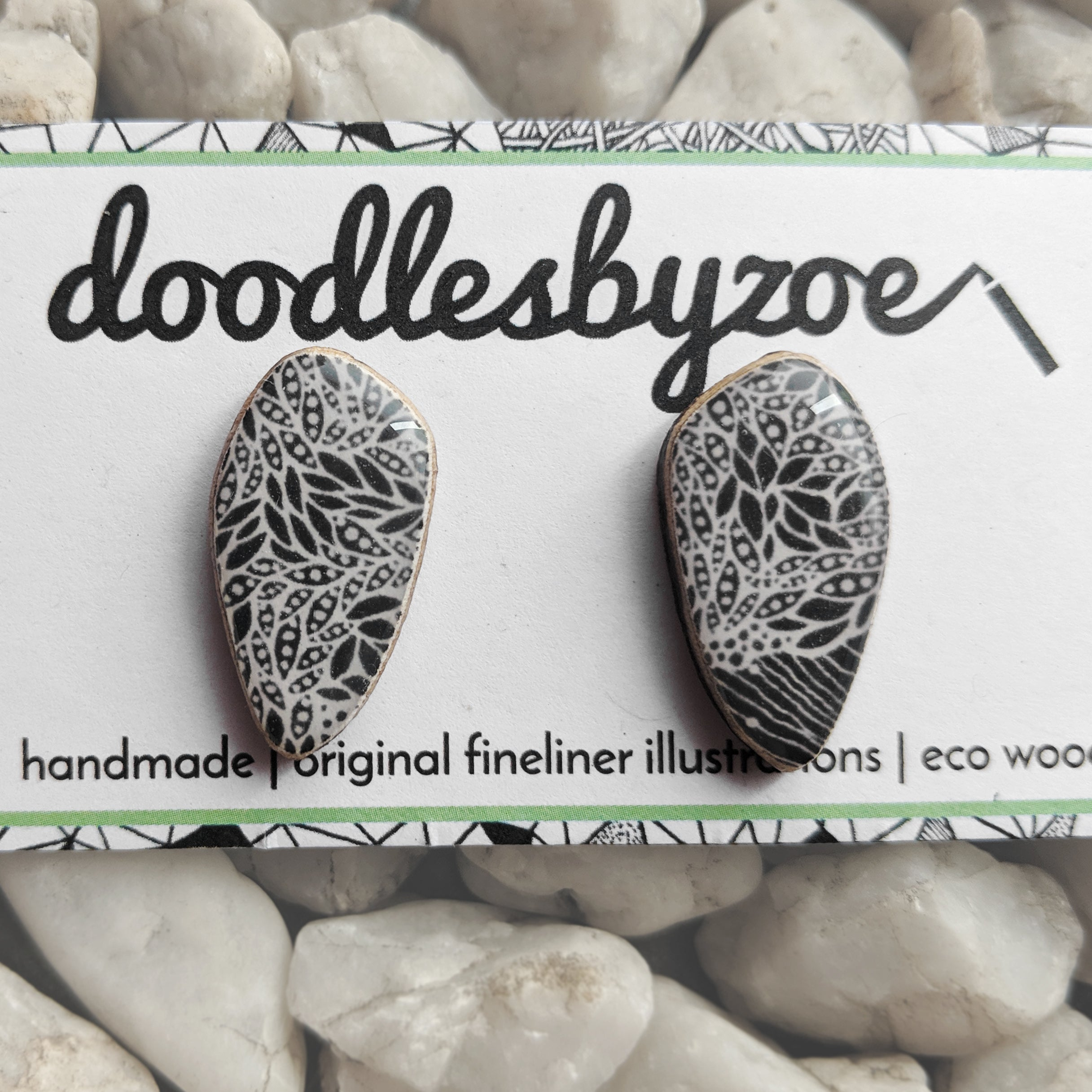 Pebble Studs // 'Heartwood'
