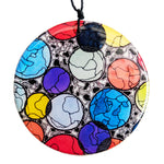 Disc Pendant Necklace // 'Rainbow Bubbles'