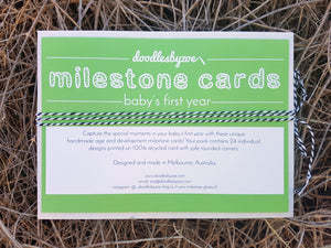 Milestone Cards // 'Baby's First Year'