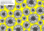 18mm studs in the pattern yellow daisy