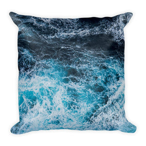 Blue Waves Square Pillow