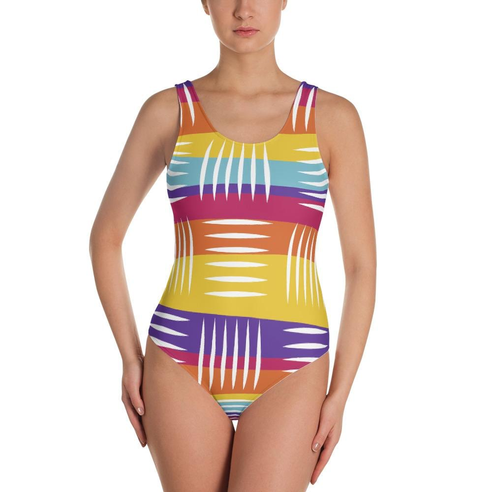 Colorful Lines One-Piece Swimsuit