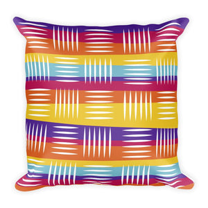 Colorful Lines Square Pillow