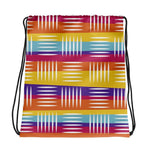 Colorful Lines Drawstring Bag