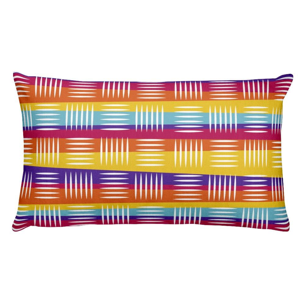 Colorful Lines Rectangular Pillow