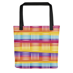 Colorful Lines Tote Bag