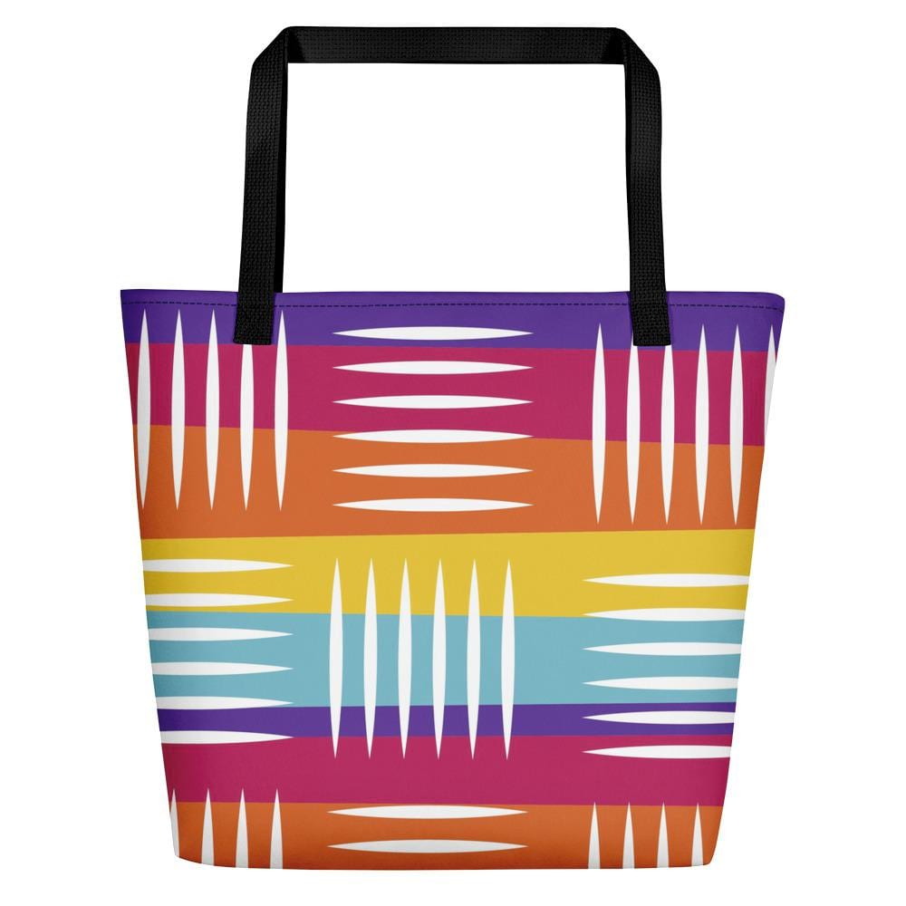 Colorful Lines Beach Bag
