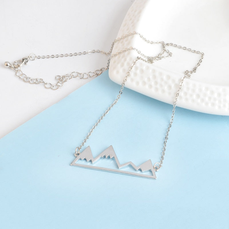 Mountain Peak Pendant Necklace
