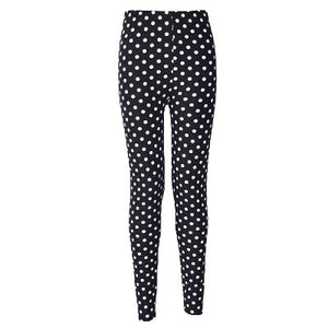 Polka Dots Fashion Print Leggings