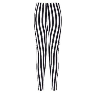 Vertical Stripe Fashion Print Leggings