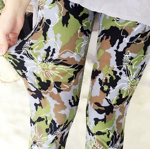 Camo Flowers Fashion Print Leggings