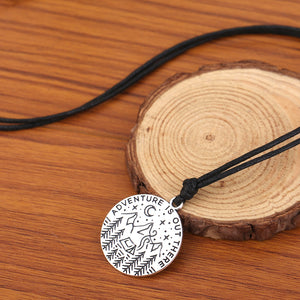 """Adventure Is Out There"" Pendant Necklace"