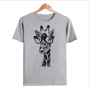 Giraffe Design Graphic Print Tee