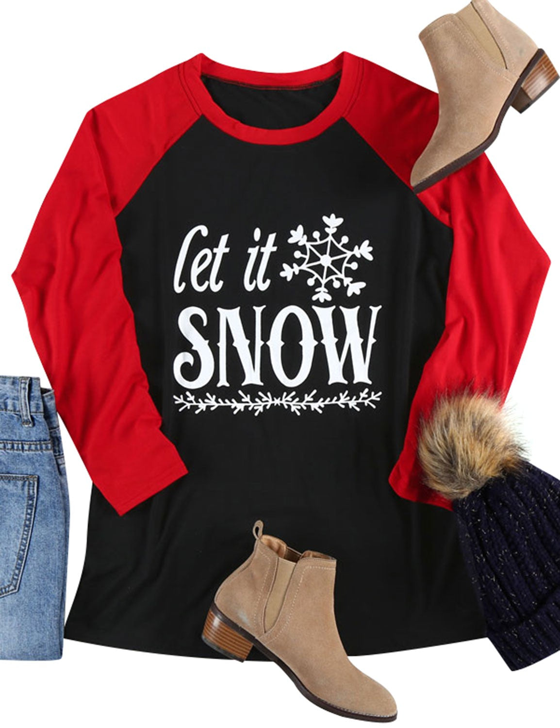 Let It Snow Long Sleeve Tee