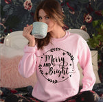 Merry and Bright Long Sleeve Sweatshirt