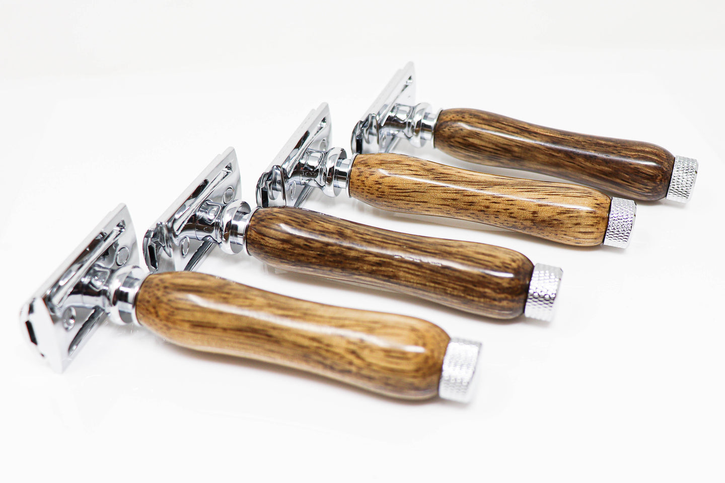 hand crafted razor set made from wood