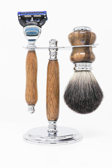 Black Limba Cartridge Razor Set with Shave Brush