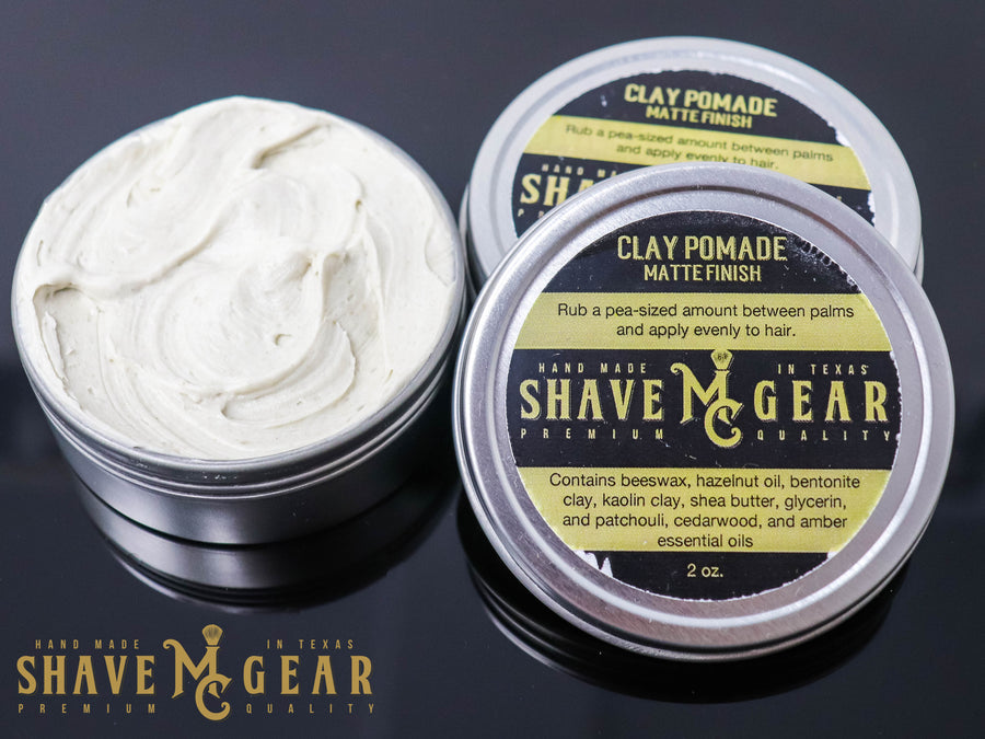 all natural hair pomade with clay for medium hold