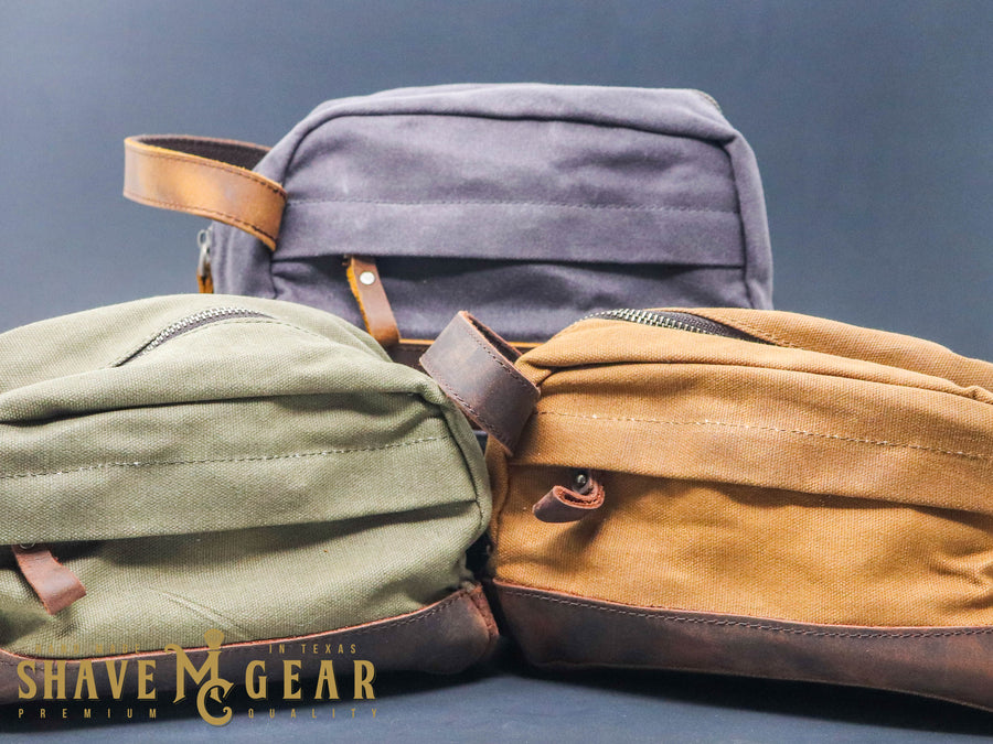 dopp bag collection from mc shave gear