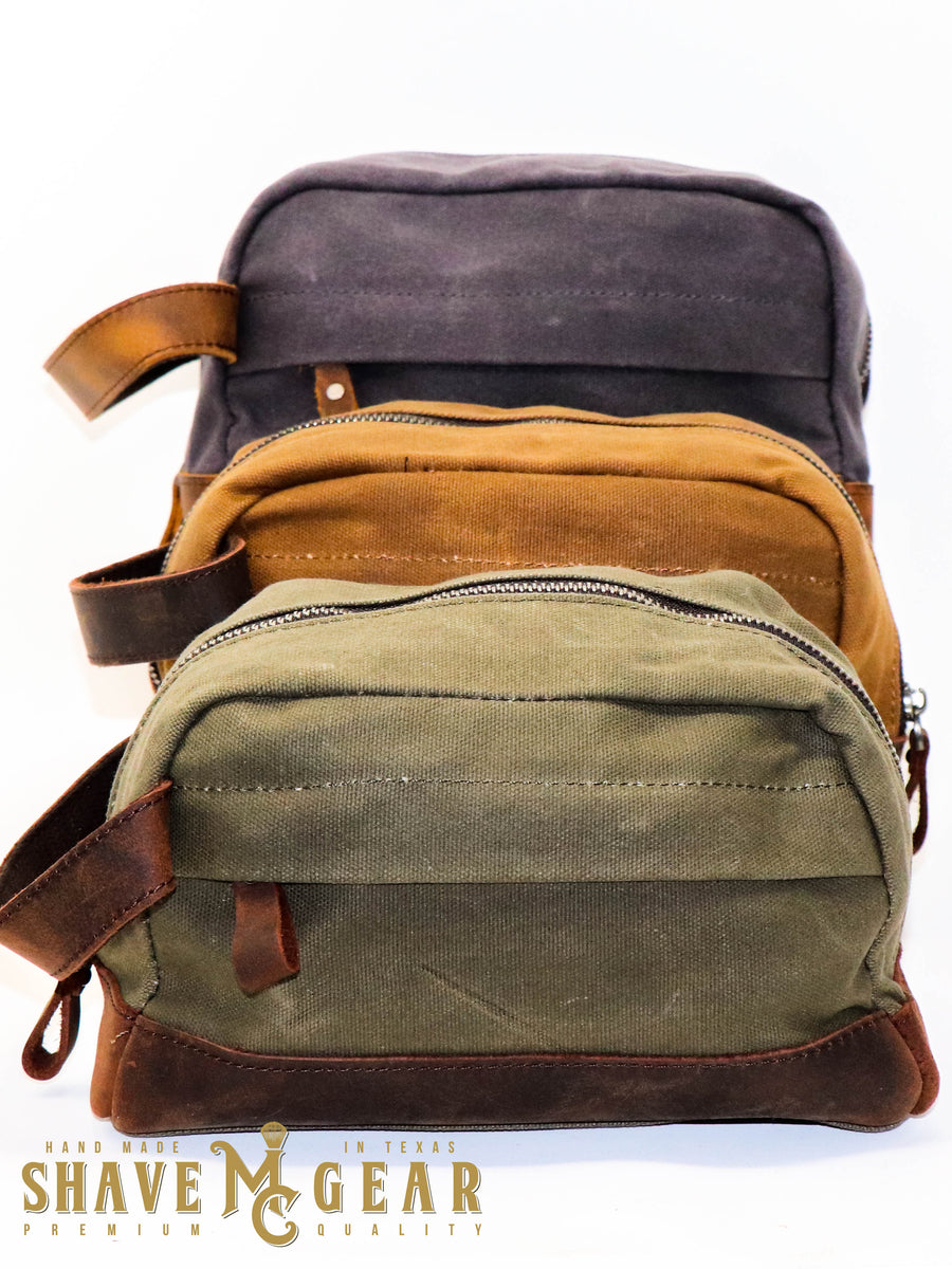 waxed canvas dopp bag collection