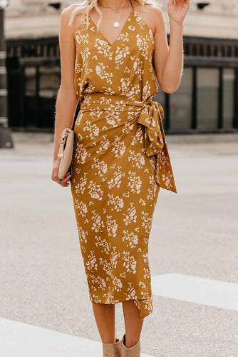 Wrap Midi Dress - Alycia Mikay Fashion