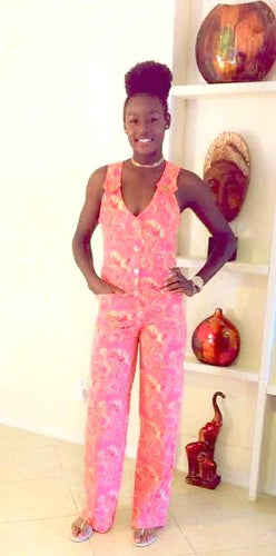 Multi-Print Vintage Chic Jumpsuit - Alycia Mikay Fashion
