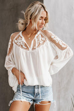 Load image into Gallery viewer, White Invitation Lace Blouse - Alycia Mikay Fashion