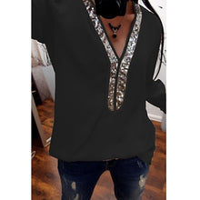 Load image into Gallery viewer, V-Neck Sequins Blouse - Alycia Mikay Fashion