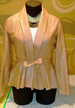 Load image into Gallery viewer, Belted Peplum Jacket - Alycia Mikay Fashion