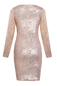 Sequin Tassel Sleeves Evening Dress - Alycia Mikay Fashion