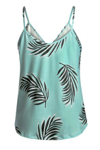 Load image into Gallery viewer, Green Tropical Print Tank Top - Alycia Mikay Fashion