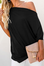 Load image into Gallery viewer, Off-The-Shoulder Slash Neck Casual Loose Fitting Top - Alycia Mikay Fashion
