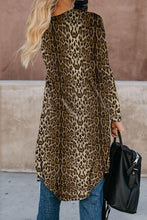 Load image into Gallery viewer, Brown Leopard Print Long Cardigan - Alycia Mikay Fashion