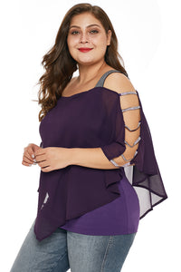 Plus Size - Embellished Sleeves - Alycia Mikay Fashion