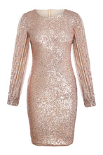 Load image into Gallery viewer, Sequin Tassel Sleeves Evening Dress - Alycia Mikay Fashion
