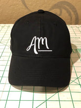 Load image into Gallery viewer, Black AM Baseball Cap - Alycia Mikay Fashion