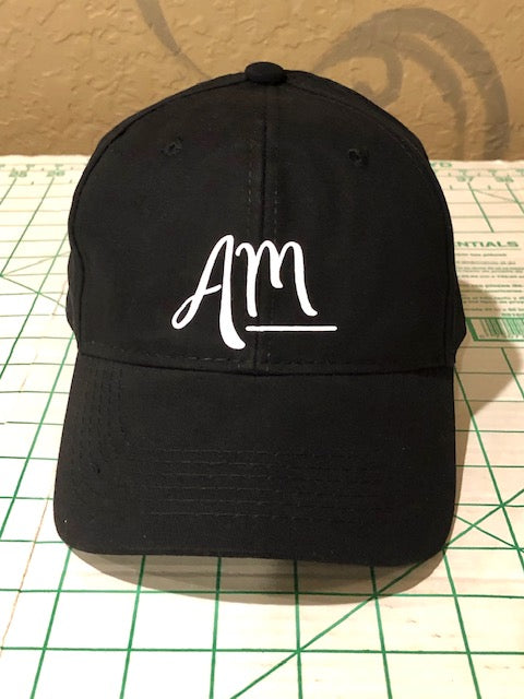 Black AM Baseball Cap - Alycia Mikay Fashion