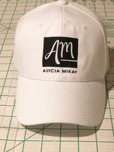 Load image into Gallery viewer, White AM Baseball Cap - Alycia Mikay Fashion