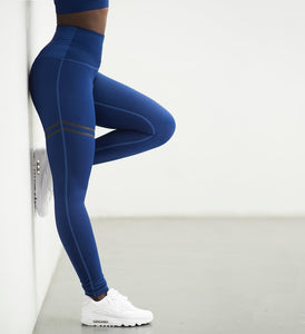 High Waist Fitness Leggings with Thigh Accent - Alycia Mikay Fashion