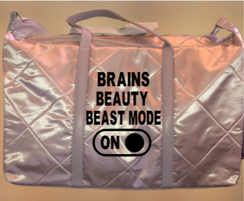 Brains Beauty Weekender / Workout Bag - Alycia Mikay Fashion