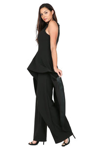 Hi-Low Ruffle Layer Jumpsuit - Alycia Mikay Fashion