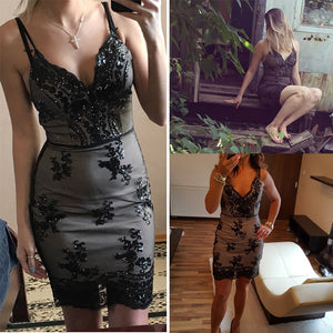 Sexy Sequin Party  Dress - Alycia Mikay Fashion