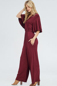 Flutter Sleeve Jumpsuit - Alycia Mikay Fashion