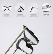 Load image into Gallery viewer, Fashionable Geometric Texture Eyeglass Frames - Alycia Mikay Fashion
